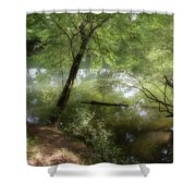 Water Side Shower Curtain