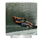 Water Skiing Magic Of Water 11 Shower Curtain by Bob Christopher