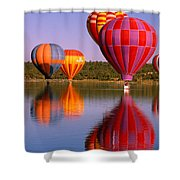 Water Skippers Shower Curtain