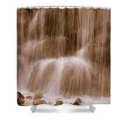 Water Softly Falling Shower Curtain