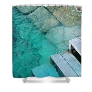 Water Steps Shower Curtain