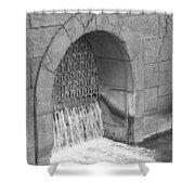 Water Stone Shower Curtain