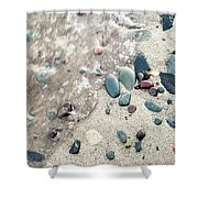 Water Stones Shower Curtain