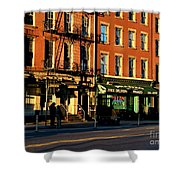 Water Street At Dusk Shower Curtain