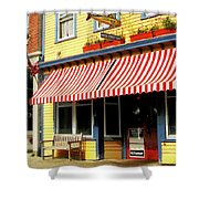 Water Street Cafe Shower Curtain