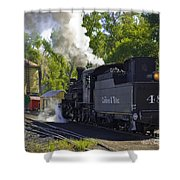 Water Tank And Steam Engine Shower Curtain