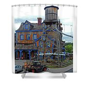 Water Tank House Shower Curtain