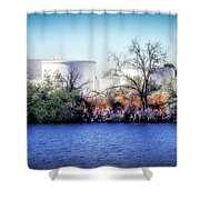 Water Tanks Shower Curtain