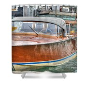 Water Taxi Italy Shower Curtain