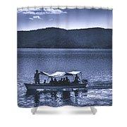 Water Taxi - Lago De Coatepeque - El Salvador Shower Curtain