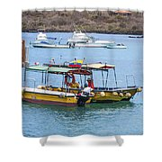 Water Taxis Waiting Shower Curtain