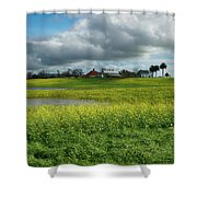 Water To Light Shower Curtain