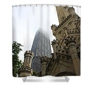 Water Tower And Hancock Shower Curtain