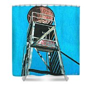 Water Tower Shower Curtain by Glenda Zuckerman