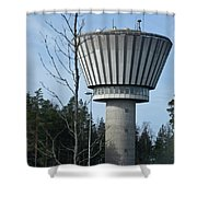 Water Tower Of Lohja  Station Shower Curtain