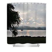 Water Tree Shower Curtain