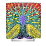 Water Tree Shower Curtain