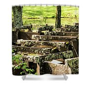 Water Trough Intersection Shower Curtain