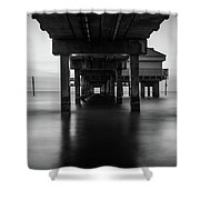 Water Under The Dock Shower Curtain