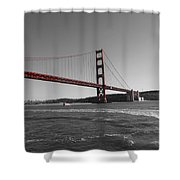 Water Underneath The Bridge-black And White Shower Curtain