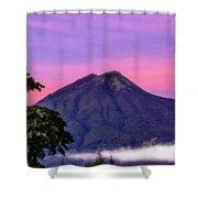 Water Volcano, Guatemala Shower Curtain