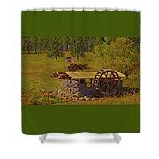 Water Wheel House Shower Curtain