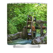 Water Wheel In The Woods Shower Curtain