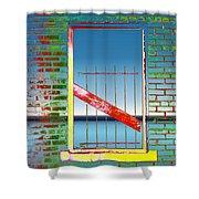Water Window 2 Shower Curtain