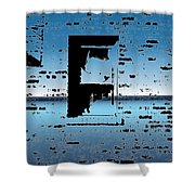 Water Window Shower Curtain