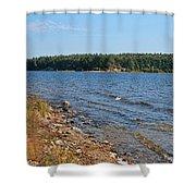 Water Wisp Shower Curtain