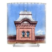 Waterbury Vermont Train Station Shower Curtain