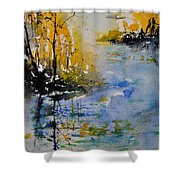 Watercolor 010101 Shower Curtain