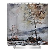 Watercolor 010103 Shower Curtain
