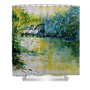 Watercolor  011108 Shower Curtain