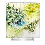 Watercolor 014042 Shower Curtain