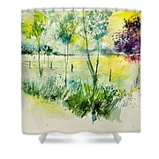 Watercolor 014052 Shower Curtain