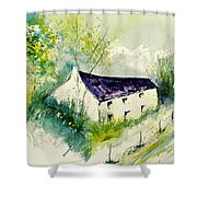 Watercolor 014062 Shower Curtain