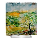 Watercolor 014091 Shower Curtain