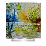 Watercolor 015003 Shower Curtain