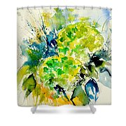 Watercolor 017050 Shower Curtain