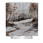 Watercolor 017051 Shower Curtain