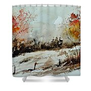 Watercolor 018090 Shower Curtain