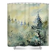 Watercolor  020307 Shower Curtain