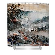Watercolor  081108 Shower Curtain