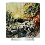 Watercolor  130708 Shower Curtain