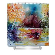 Watercolor 140908 Shower Curtain