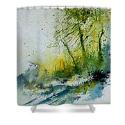Watercolor 181207 Shower Curtain by Pol Ledent