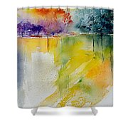 Watercolor  241008 Shower Curtain