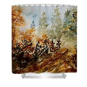 Watercolor  250607 Shower Curtain