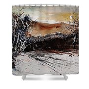 Watercolor  270908 Shower Curtain